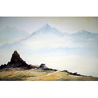 Beauty Of Himalaya-Watercolor On Paper Painting