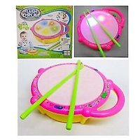 Musical Battery Operated Electronic Flash Drum Interactive Toy