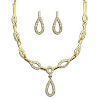 Dg Jewels 24k Gold Plated Bollywood Bollywood Pretty Necklace Set-CNS9115