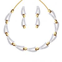 Dg Jewels 24k Gold Plated Bollywood Bollywood Stunning Necklace Set-CNS9159