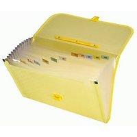 Trio ED12FHL Expanding Handle Lock File 13 Pockets FC (Set Of 1, Yellow)