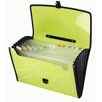 Trio EJ12FHL Expanding Handle Lock File 13 Pockets FC (Set Of 1, Green)