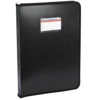 Trio ZB2RF Zipper Ring Binder FC (Set Of 2, Black)