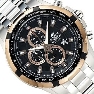 CASIO EDIFICE EF 539D-1A5V BLACK COPPER CHRONOGRAPH MENS WRIST WATCH