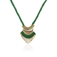 Anshul Fashion Green Metal  Necklace