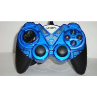 Quantum QHM-7487-BL USB GAME PAD With TURBO FUNCTION DOUBLE  VIBRATION