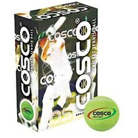 Cosco Cricket Tennis Light Weight Balls (Pack Of 1 Dozen)