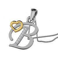 0.03 Cts Sparkles Diamond Pendant  In 18KT Gold