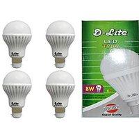 D-Lite Led Bulb 8 Watt ( 4pec)