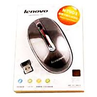 Lenovo N3903 USB Wireless Mouse With ON/OFF Switch,Self-Sleep Funtion Metal
