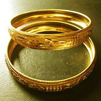 Ladies Golden Bangle Stylish Design Lady Womens 2 Bangles Set Gift For Her New