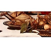 Christ In Emmaus Detail Fruits And Poultry By Caravaggio - Museum Canvas Print