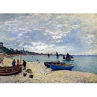 The Beach At Sainte Adresse #2 By Monet - Museum Canvas Print
