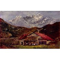 The Mountain Hut By Gustave Courbet - Fine Art Print