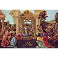 Adoration Of The Magi (Washington) By Botticelli - Museum Canvas Print