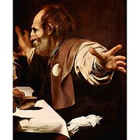 Christ In Emmaus, Detail - Disciples Of Christ [2] By Caravaggio - Fine Art Print
