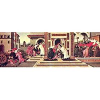 Painting The Life Of St. Zenobius Of Florence By Botticelli - Museum Canvas Print