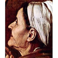 Madonna Of The Pilgrims Detail By Caravaggio - Museum Canvas Print