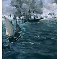Manet - The Battle Of The Kearsarge And The Alabama - Fine Art Print