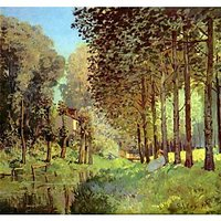 Resting On The River Bank By Sisley - Canvas Art Print