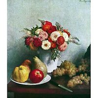 Still-Life With Flowers And Fruit By Fantin-Latour - Fine Art Print