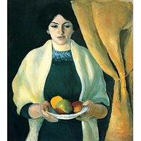 Portrait With Apples (Portrait Of The Wife Of The Artist) By Macke - Museum Canvas Print
