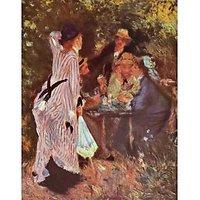 In The Garden (In The Garden Bower Of Moulin De La Galette By Renoir - Museum Canvas Print