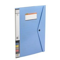 Trio 520DBF Display File Resume 20 Pockets FC (Set Of 2, Blue)