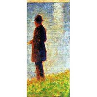 Sunday At The Grand Jatte, Study Of A Fisherman By Seurat - Fine Art Print