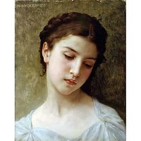 Head Of A Young Girl 1898 - Museum Canvas Print
