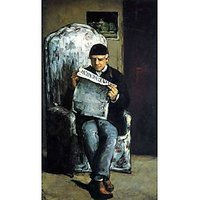 Portrait Of Louis-Auguste Cezanne, The Father Of The Artist, Reading From L'EvÃƑ©Nement By Cezanne - Fine Art Print
