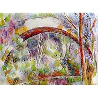 River At The Bridge Of Three Sources By Cezanne - Fine Art Print