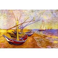 Boats Of Saintes-Maries By Van Gogh - Canvas Art Print