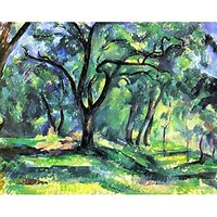 In The Woods By Cezanne - Museum Canvas Print