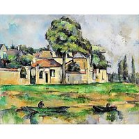 Cezanne - Banks Of The Marne - Museum Canvas Print