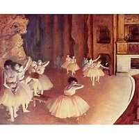 Dress Rehearsal Of The Ballet On The Stage By Degas - Canvas Art Print