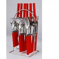 Cutlery Set Wire Stand 24 Piece