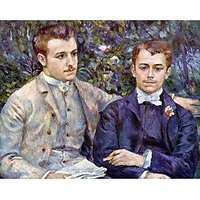 Portrait Of Charles And George By Renoir - Museum Canvas Print