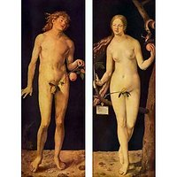 Adam And Eve By Durer - Museum Canvas Print