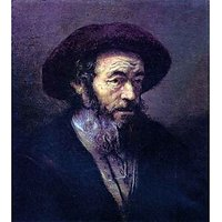 Old Man With A Fur Cap By Rembrandt - Museum Canvas Print