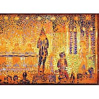 Study Of The Circus Parade By Seurat - Museum Canvas Print