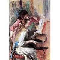 Young Girls At The Piano [1] By Renoir - Museum Canvas Print