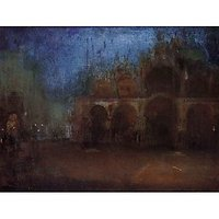 Nocturne, Blue And Gold, Saint Marks, Venice By Whistler - Fine Art Print