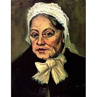 Head Of An Old Woman With White Cap The Midwife - Canvas Art Print