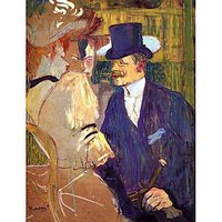 The English Man At The Moulin Rouge By Toulouse-Lautrec - Museum Canvas Print