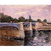 The Seine With The Pont De La Grande Jette - Museum Canvas Print