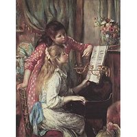 Young Girls At The Piano [2] By Renoir - Fine Art Print