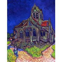 The Church Of Auvers By Van Gogh - Museum Canvas Print