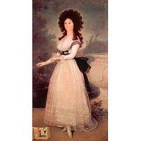 Portrait Of DoÃƑ±A Tadea Arias De Enriquez By Goya - Fine Art Print