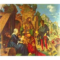 Adoration Of The Magi [2] By Durer - Museum Canvas Print